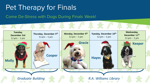 Come De-Stress with Dogs During Finals Week!